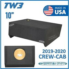 "2019-2020 Gmc Sierra Double Cab 10"" Sub box Subwoofer Enclosure FOR JL Audio TW3"