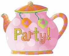 Tea Party Kettle Pitcher Girls Birthday Theme Party Deluxe Novelty Invitations