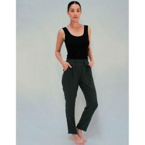 PIPER LANE - Pleat Pants (8660 - Black, Dark Green)