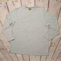 Foundry Mens BigTall Lt Grey Heather Long Sleeve T-Shirt Size 3XLT Pocket MINT