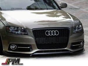 For 2009-2012 AUDI S4 B8 Only P Style Carbon Fiber Front Bumper Spoiler Lip