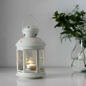 IKEA ROTERA LANTERN FOR TEALIGHT SUITABLE FOR INDOOR AND OUTDOOR WHITE COLOUR