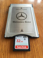PCMCIA TO SD PC CARD ADAPTER +32GB SDHC Memory card  for Mercedes-Benz C/S class