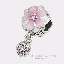 Authentic Pandora Silver Magnolia Bloom Enamel CZ Dangle Bead 792077PCZ