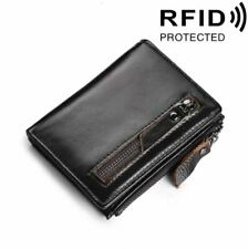 Cool Men's Leather Wallet Zipper Business RFID Credit Card Holder Purse ID