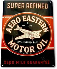 Aero Eastern Motor Oil Garage Service Retro Vintage Wall Decor Metal Tin Sign