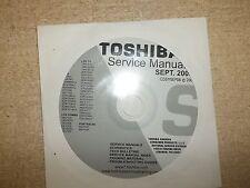 Toshiba Television Service Manual CD CDSMSEP08 *FREE SHIPPING*