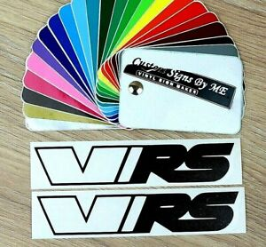 2x VRS Car Mirror Stickers Half Outlined Vinyl Decal Adhesive Octavia Fabia
