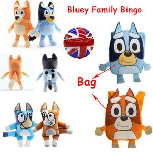 Bluey Family Bingo Soft Plush Stuffed Animal Doll Toy/Bag TV Pup Doll Kids Gift
