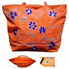 New Bohemein Handmade Women Purse Shoulder Bag Cotton Embroidery Fashion Zipper