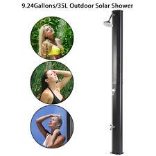 Outdoor Solar Heated Shower w/Shower 9.2 Gallon Dual-Purpose Poolside Beach Pool