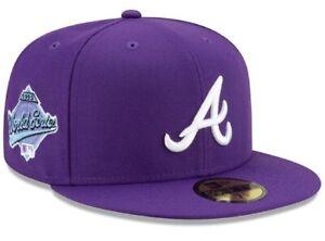 Atlanta Braves New Era 59FIFTY 1995 MLB World Series Purple Fitted Hat