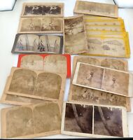 .JOB LOT 24 x 1800s / 1900s MIXED STEREOVIEW CARDS. #3