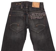 G-STAR RADAR STRAIGHT EAST EMBRO Mens Black Blue Loose Bloys Teens Jeans W26 L32