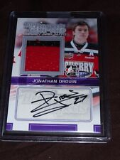 13-14 ITG Heroes & Top Prospects Jonathan Drouin /19 Auto 2CLR Jersey Pre-RC