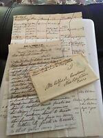 1862 Handwritten Letter Diamond Flagg Chas Somers Genealogy Windsor Locks CT