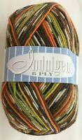 KFI Knitting Fever Indulgence 6 Ply Sock Yarn 150g Skein #5 Lime Gold Orange