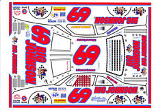 #69 E. Normus Big Johnson Red #s 1/64th HO Scale Slot Car Waterslide Decals