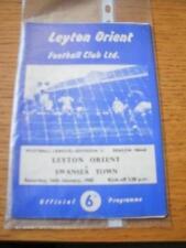16/01/1965 Leyton Orient v Swansea Town  (Creased & Fol