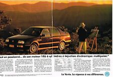 PUBLICITE ADVERTISING  1984   VOLKSWAGEN  VENTO  (2 pages)