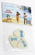 Mahalo Felt Ukulele Plectrum Pack of three lightweight felt picks UK SELLER
