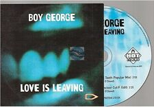 BOY GEORGE love is leaving CD SINGLE france french card sleeve CULTURE CLUB