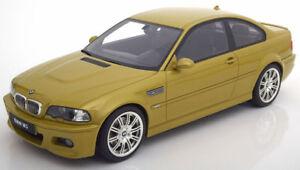 Otto Mobile BMW M3 E46 CSL Yellow Metallic 1:12 LE 999pcs*LARGE CAR New!