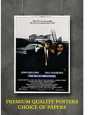 The Blues Brothers Classic Movie Large Poster Art Print Gift A0 A1 A2 A3 Maxi
