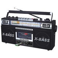 QFX J22ubk Rerun X Radio and Cassette to Mp3 Converter Black