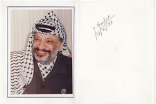 Yasser Arafat (Nobel Peace Prize) – large signed card with photograph