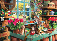 1000 pieces Jigsaw Puzzle Cute Cat Education Puzzles For Adults Kids