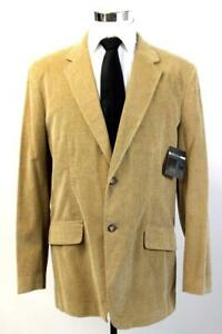 NWT $125 CLAIBORNE Khaki Tan CORDUROY BLAZER Jacket Sport Coat Mens 44 LONG