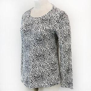 Liz Claiborne Plus Leopard Print Long Sleeve Crew Neck Top Blouse 3X