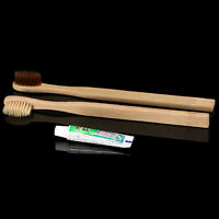 Brosse à dents écologique en bambou de taille moyenne de soie
