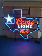 Coors Light Beer State Of Texas Light Up Led Sign Game Room Man Cave Bar Pub New