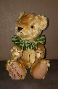 Max Hermann Mechanical Yes No Nicky Bear Limited 5/3000 Mohair Germany Orig Tags