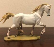 White Horse Wildlife Resin Art  Deco Sculpture