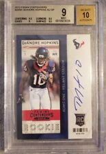 *DEANDRE HOPKINS* 2013 Playoff Contenders #205b AUTO SP *BGS 9*  RC Rookie