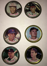 6 1964 Topps Baseball Coins, Boyer, Chance & 4 Others in Fair Condition