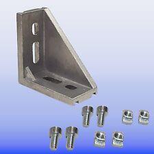 Winkel 30 x 60 Nut 8 Bosch Raster  -   mit Befestigung   -  Alu Profi 30 Nut 8