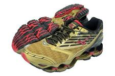 New Men's Mizuno Wave Prophecy 5 Running Shoes Size 9 Gold/Black/Red Last Pair
