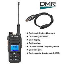 Retevis RT82 DMR Radio Banda Dual 3000CH Compatible con Mototrbo TierⅠ&Ⅱ+ Cable