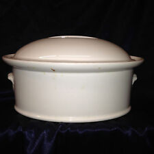 PILLIVUYT FRANCE CULINAIRE WHITE OVAL COVERED CASSEROLE DISH 2 QUARTS