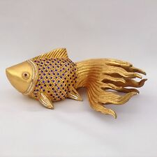 Koi Carassius auratus Goldfisch Gold Teich Japan China Skulptur Fisch Dekoration