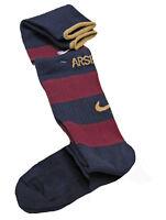NIKE ARSENAL Football Socks Childs Boys Girls  Claret Navy Blue UK12-2