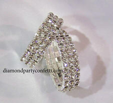 2 pc Rhinestone Napkin Rings Bridal Shower Wedding Party Table Decoration Favor