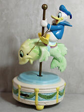 Disney Schmid Music Box Donald Duck Riding a Fish