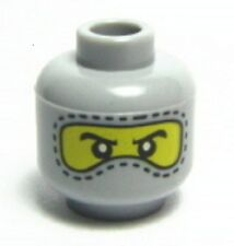 x1 NEW Lego Minifig Head Gray Balaclava w/ Eyes Race Car Indy Driver Guy