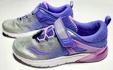 Saucony Kid's Flash Glow A/C, Light Up Sneaker Shoes Purple / Silver