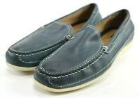 Johnston & Murphy $120 Men's Casual Loafers Shoes Size 13 Leather Blue